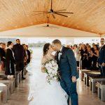 Josh & Alexa Wedding Ceremony Kiss
